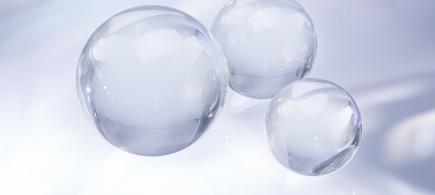 Weisse Glaskugeln von Schäfer Glas