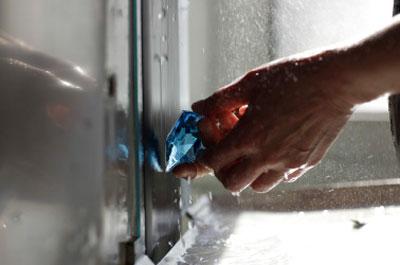 Glasschleifen bei Schäfer Glas